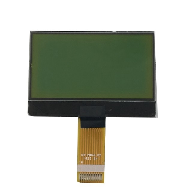 Stn Lcd Display Yewllow Green Negative Transmissive Lcd 12864 Display
